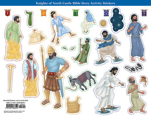 Vacation Bible School (Vbs) 2020 Knights of North Castle Bible Story Activity Stickers (Pkg of 6): Quest for the King's Armor