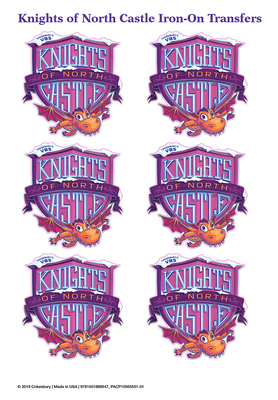 Vacation Bible School (Vbs) 2020 Knights of North Castle Iron-On Transfers (Pkg of 12): Quest for the King's Armor