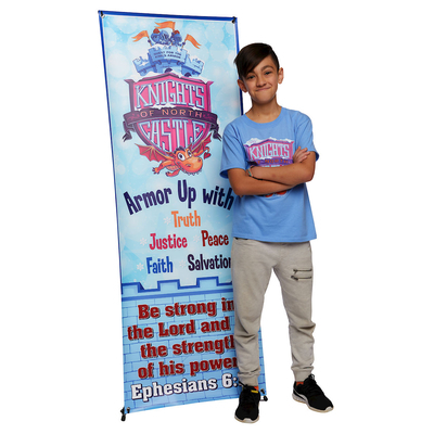 Vacation Bible School (Vbs) 2020 Knights of North Castle Theme Banner: Quest for the King's Armor