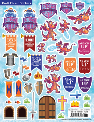 Vacation Bible School (Vbs) 2020 Knights of North Castle Craft Theme Stickers (Pkg of 12): Quest for the King's Armor