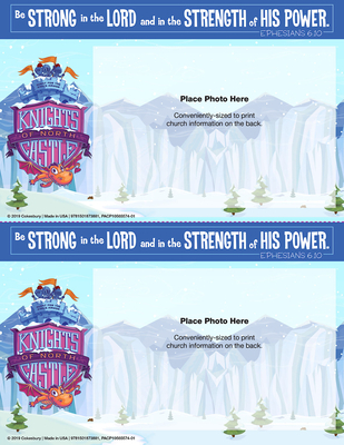 Vacation Bible School (Vbs) 2020 Knights of North Castle Follow-Up Photo Frames (Pkg of 48): Quest for the King's Armor