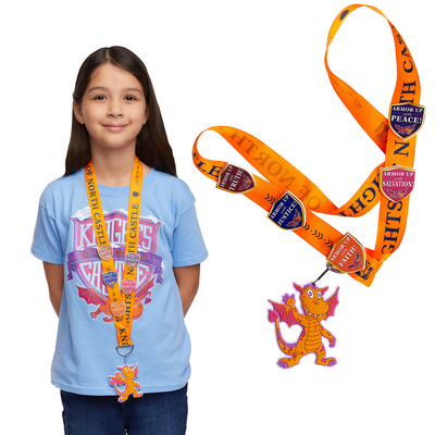 Vacation Bible School (Vbs) 2020 Knights of North Castle Scripture Treasure Lanyard (Pkg of 12): Quest for the King's Armor