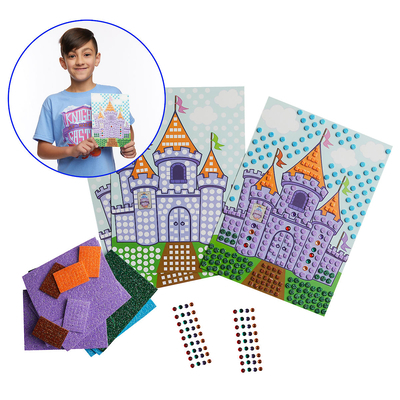 Vacation Bible School (Vbs) 2020 Knights of North Castle Mosaic Castle Scene (Pkg of 12): Quest for the King's Armor
