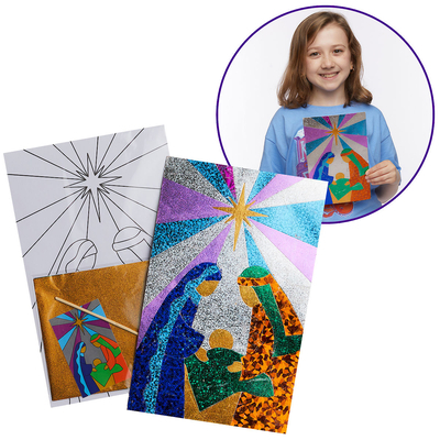 Vacation Bible School (Vbs) 2020 Knights of North Castle Foil Art Nativity (Pkg of 12): Quest for the King's Armor
