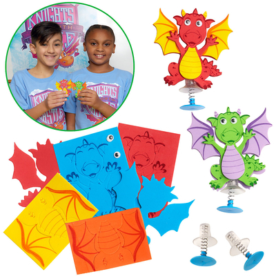Vacation Bible School (Vbs) 2020 Knights of North Castle Dragon Jump Ups (Pkg of 12): Quest for the King's Armor