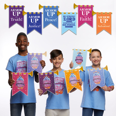 Vacation Bible School (Vbs) 2020 Knights of North Castle Decorating Castle Mobiles (Pkg of 6): Quest for the King's Armor