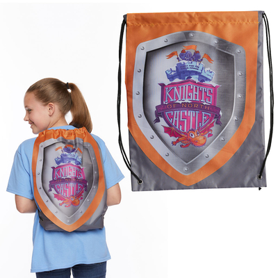 Vacation Bible School (Vbs) 2020 Knights of North Castle Shield Drawstring Backpack (Pkg of 6): Quest for the King's Armor