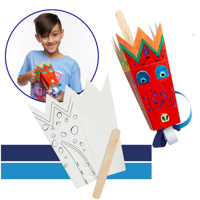 Vacation Bible School (Vbs) 2020 Knights of North Castle Paper Dragon Puppet Kit (Pkg of 12): Quest for the King's Armor