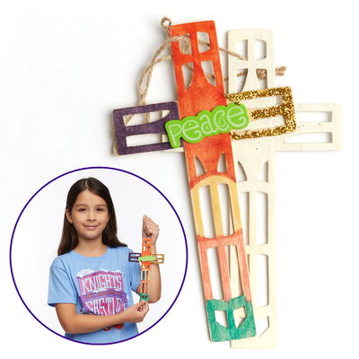 Vacation Bible School (Vbs) 2020 Knights of North Castle Artist Cut Wood Cross (Pkg of 12): Quest for the King's Armor