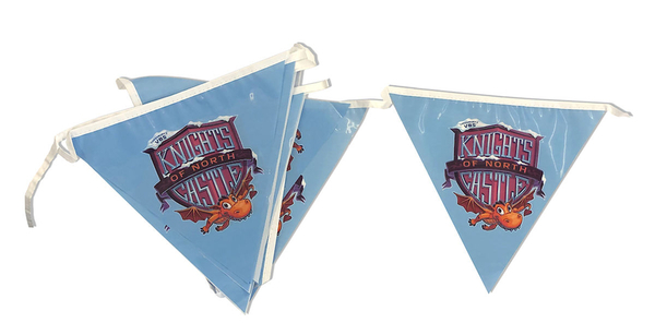 Vacation Bible School (Vbs) 2020 Knights of North Castle Pennant String Flags: Quest for the King's Armor