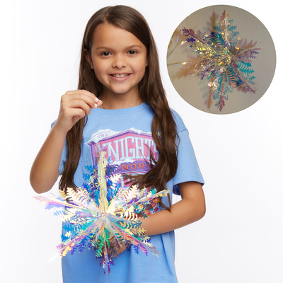 Vacation Bible School (Vbs) 2020 Knights of North Castle Decorating Metallic Snowflakes (Pkg of 2): Quest for the King's Armor