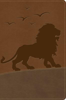 KJV One Big Story Bible, Brown Lion Leathertouch