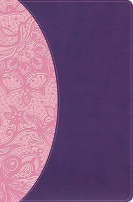 KJV One Big Story Bible, Pink/Purple Leathertouch