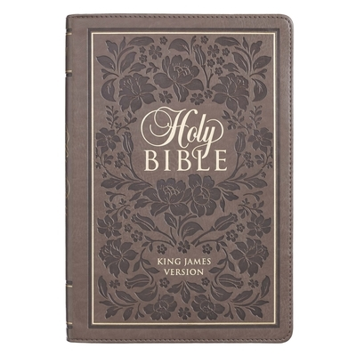 KJV Bible Thinline Brown with Flowers