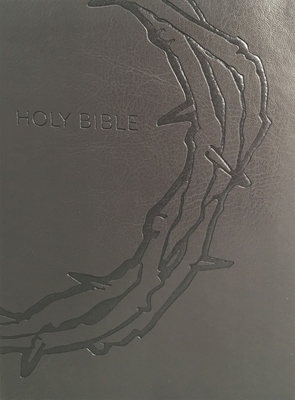 KJV Sword Study Bible Personal Size Large Print Designer Charcoal Ultrasoft Crown of Thorns Indexed