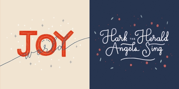 Christmas Carols 10-Pack Christmas Cards: Joy to the World and Hark the Herald Angels Sing