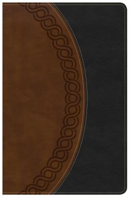 KJV Large Print Personal Size Reference Bible, Black/Brown Deluxe Leathertouch, Indexed