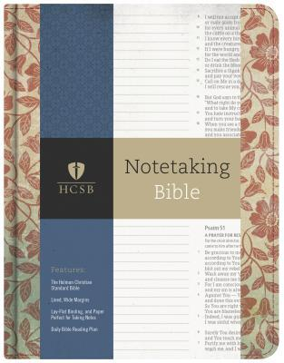 HCSB Notetaking Bible, Red Floral