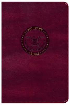 CSB Military Bible, Burgundy Leathertouch
