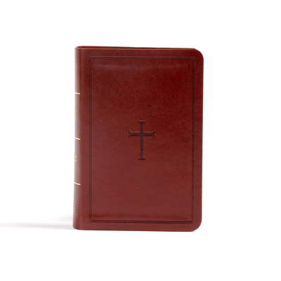 CSB Large Print Compact Reference Bible, Brown Leathertouch