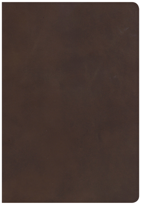 CSB Super Giant Print Reference Bible, Brown Genuine Leather, Indexed