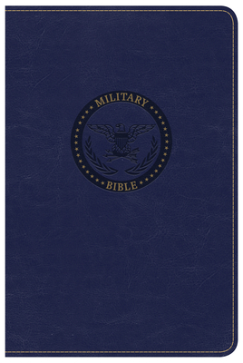 CSB Military Bible, Royal Blue Leathertouch