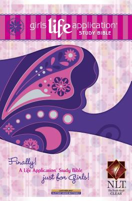 Girls Life Application Study Bible-NLT-Butterfly