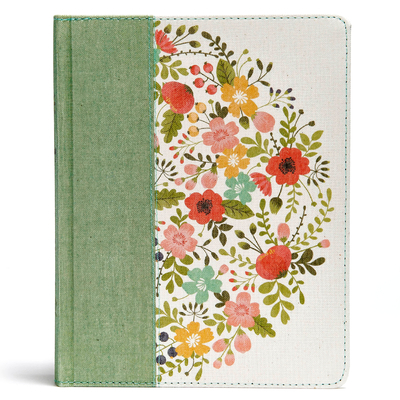 CSB Notetaking Bible, Sage Cloth Over Board
