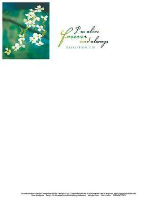 I'm Alive Easter Dogwood Letterhead (Pkg of 50)