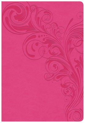 CSB Super Giant Print Reference Bible, Pink Leathertouch