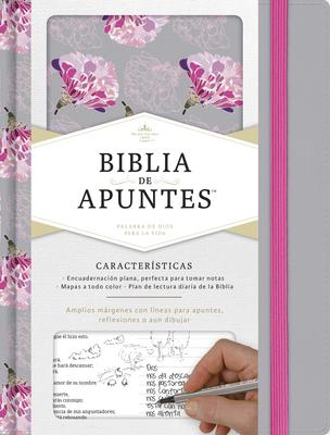 Rvr 1960 Biblia de Apuntes, Gris y Floreado Tela Impresa