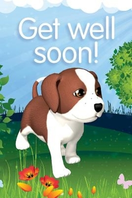 Deep Blue Kids Get Well Postcard (Pkg of 25)