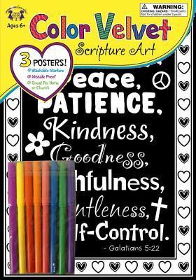 Velvet Scripture Art Galatians 5:22