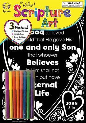 Velvet Scripture Art John 3:16