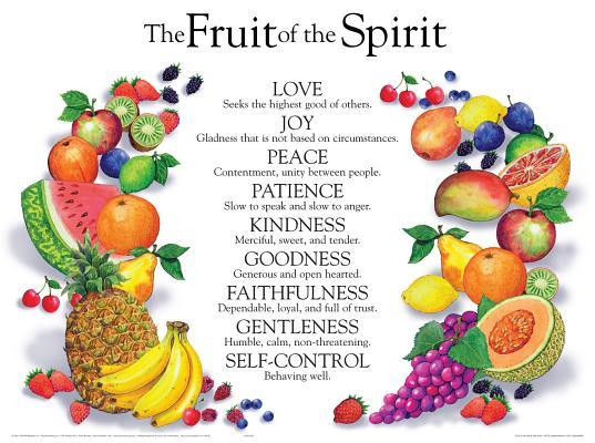Fruit of the Spirit Wall Chart-Laminated