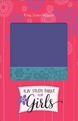 KJV Study Bible for Girls Grape/Surf Blue, Floral Design Duravella