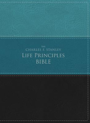 NIV, the Charles F. Stanley Life Principles Bible, Imitation Leather, Green/Black, Red Letter Edition