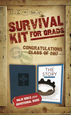 NKJV, 2017 Survival Kit for Grads, Boys' Edition, Blue, Red Letter Edition