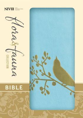 Flora and Fauna Collection Bible-NIV-Gold Bird
