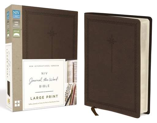 NIV, Journal the Word Bible, Large Print, Imitation Leather, Brown