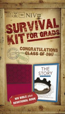 NIV, 2017 Survival Kit for Grads, Girls' Edition, Burgundy, Red Letter Edition