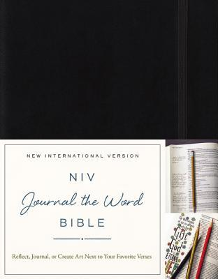 NIV, Journal the Word Bible, Hardcover, Black
