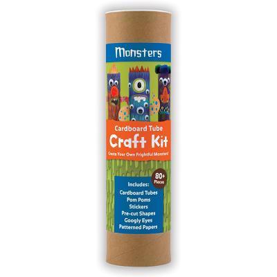 Monsters Cardboard Tube Craft Kit