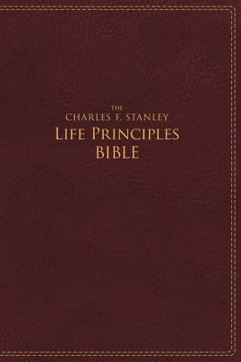 NIV, the Charles F. Stanley Life Principles Bible, Imitation Leather, Burgundy, Indexed, Red Letter Edition