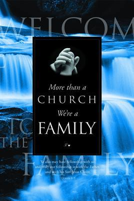 Welcome Folder (Pk of 12) - More Than a Church - We're Family