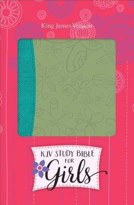 KJV Study Bible for Girls Willow/Turquoise, Butterfly Design Duravella