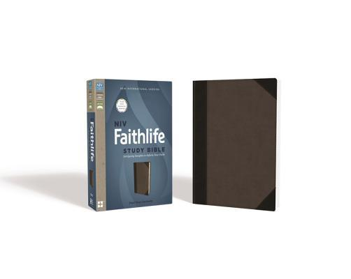NIV, Faithlife Study Bible, Imitation Leather, Gray/Black