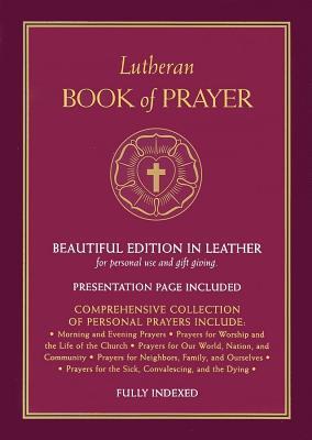Lutheran Book of Prayer - Burgundy Genuine Leather
