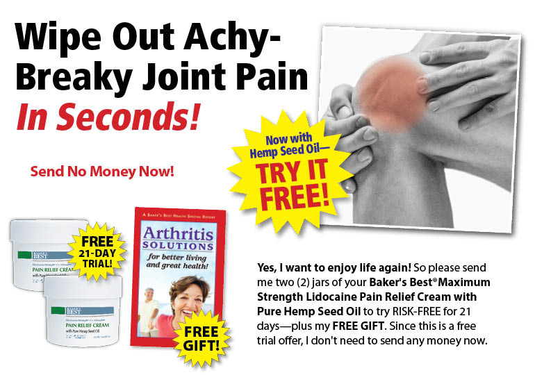 Maximum Strength Lidocaine Pain Relief Cream with Pure Hemp Seed Oil