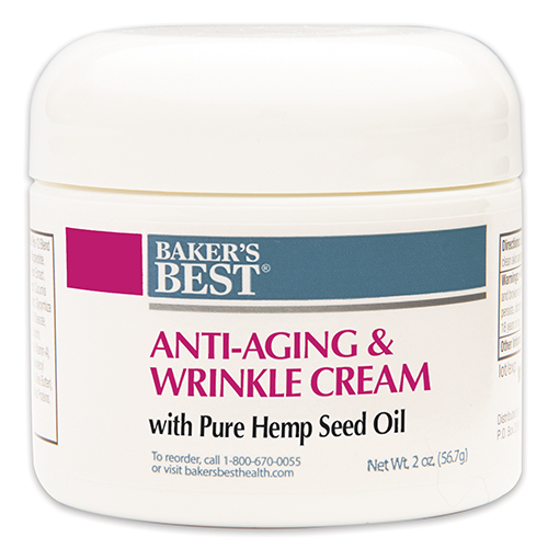 Anti-Aging Wrinkle Cream with 100% Pure Hemp Seed Oil